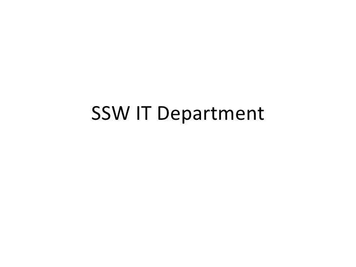 SSW IT Department