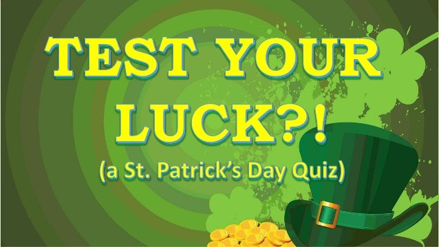 1. What was St. Patrick's given name at birth? A. Patty O'Finn B. Rick Shamrock C. Maewyn Succat D. Erwin McGregor