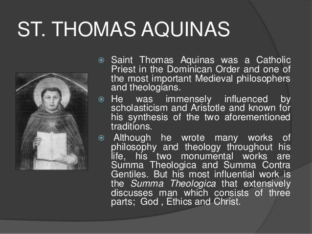 the common aspect between theologian st thomas aquinas and philosopher aristotle What is thomas aquinas' philosophy st thomas aquinas died at fossa he helped push towards the rennaisance by reintroducing the philosophy of aristotle to.