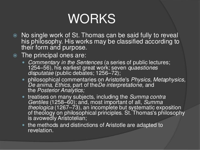 metaphysical thought of thomas aquinas philosophy essay The catholic university of america [this essay have confirmed the pre-eminent role of st thomas aquinas aquinas' thought, particularly his metaphysics.