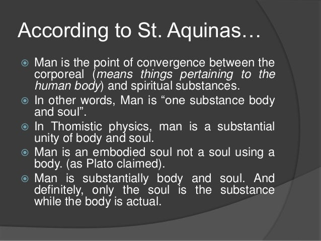 Thomas Aquinas View On Human Nature