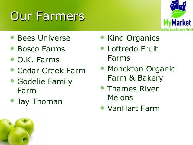 Our FarmersOur Farmers  Bees Universe  Bosco Farms  O.K. Farms  Cedar Creek Farm  Godelie Family Farm  Jay Thoman  ...