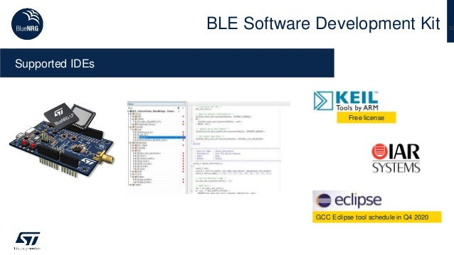 35BLE Software Development Kit Supported IDEs Free license GCC Eclipse tool schedule in Q4 2020