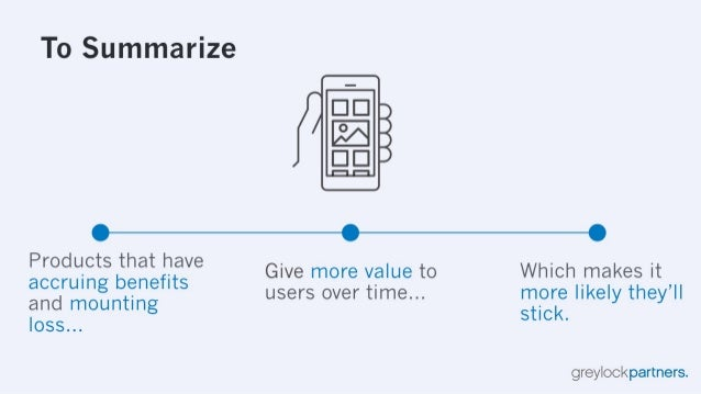 To Summarize        Products that have  .  . Give more value to Which makes it accrumg benefits users over time more likel ...