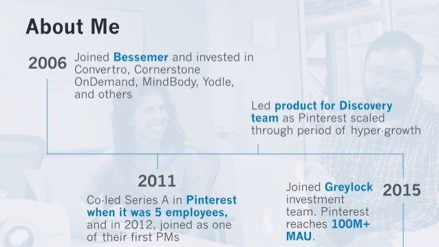 A l:  OLE t Me  Joined Bessemer and invested in  2006  Convertro,  Cornerstone OnDemand,  MindBody,  Yodle,  and others  l...