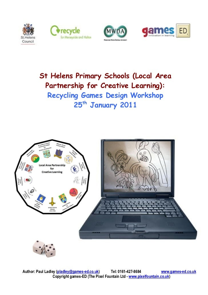 St Helens Primary Schools (Local Area          Partnership for Creative Learning):           Recycling Games Design Worksh...