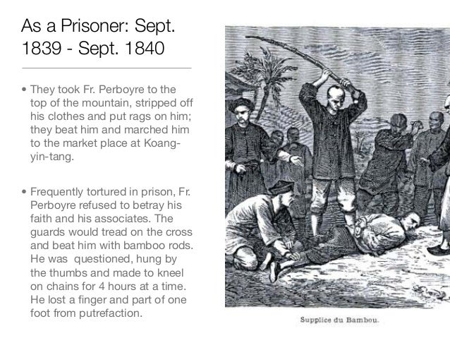 As a Prisoner: Sept.1839 - Sept. 1840• They took Fr. Perboyre to thetop of the mountain, stripped offhis clothes and put r...