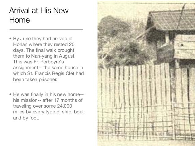Arrival at His NewHome• By June they had arrived atHonan where they rested 20days. The final walk broughtthem to Nan-yang i...