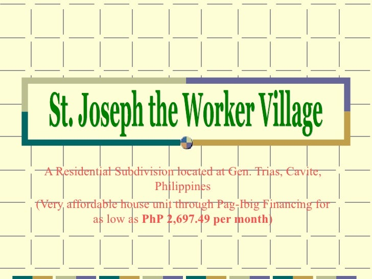 A Residential Subdivision located at Gen. Trias, Cavite, Philippines (Very affordable house unit through Pag-Ibig Financin...
