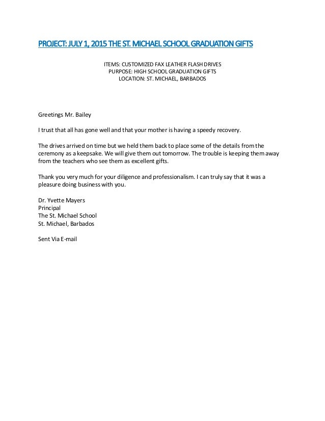 Promotional Product Service Satisfaction Letter