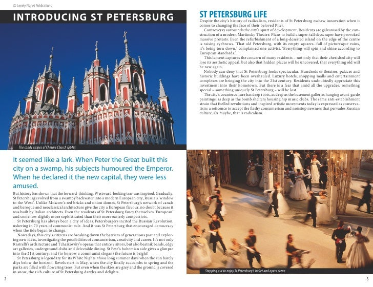 © Lonely Planet Publications      INTRODUCING ST PETERSBURG                                                               ...