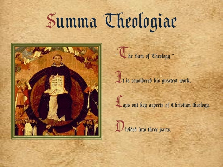 st thomas aquinas version of the The philosophical theology of st thomas aquinas new york: e j st thomas and the problem of the soul in the after aquinas: versions of thomism malden.