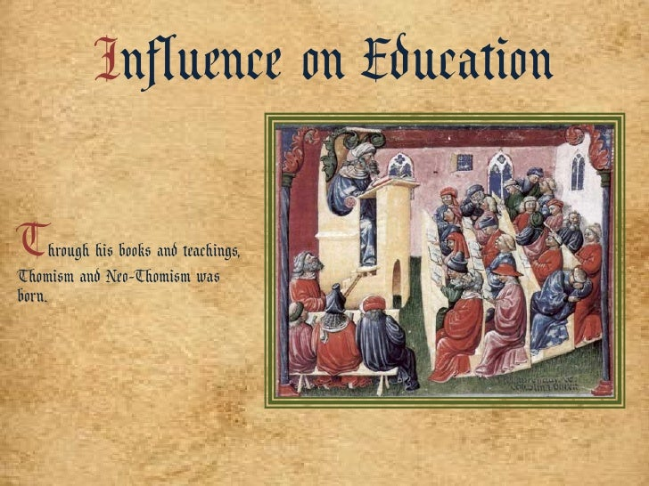 neo thomism in education The sad story of thomism in by 1969 mcmullin could pontificate that neo-thomism was while much of the rest of catholic higher education has chosen.