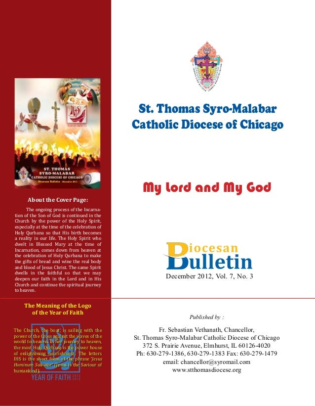 St  Thomas Syro-Malabar Diocese: December 2012 Bulletin