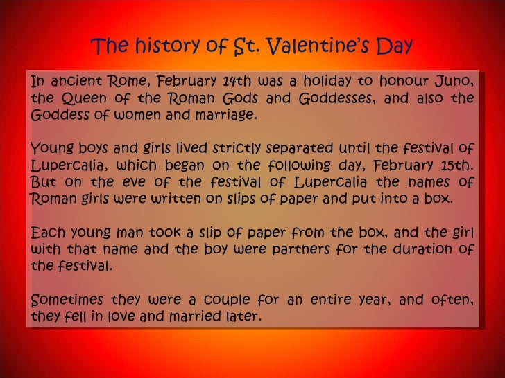 Flowers  The History Of St Valentines Day