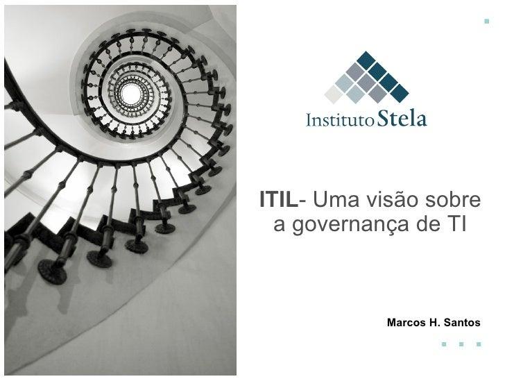 . . . . Marcos H. Santos ITIL - Uma visão sobre a governança de TI