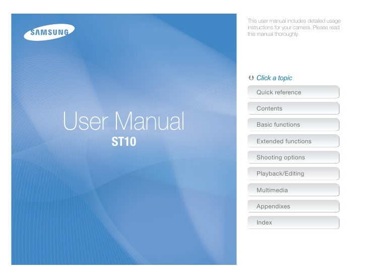 This user manual includes detailed usage               instructions for your camera. Please read               this manual...