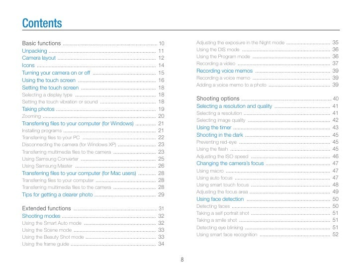 Samsung Camera ST10 User Manual