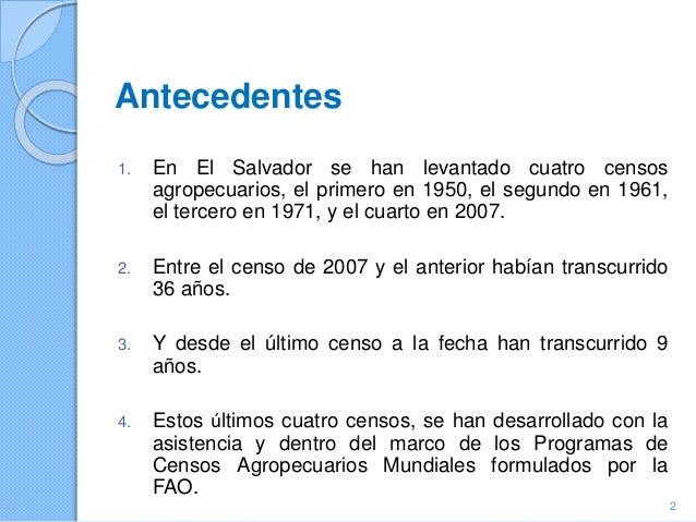 El Salvador - Tema 11: Seguridad alimentaria del hogar, IV Censo Agropecuario 2007-2008 Slide 2