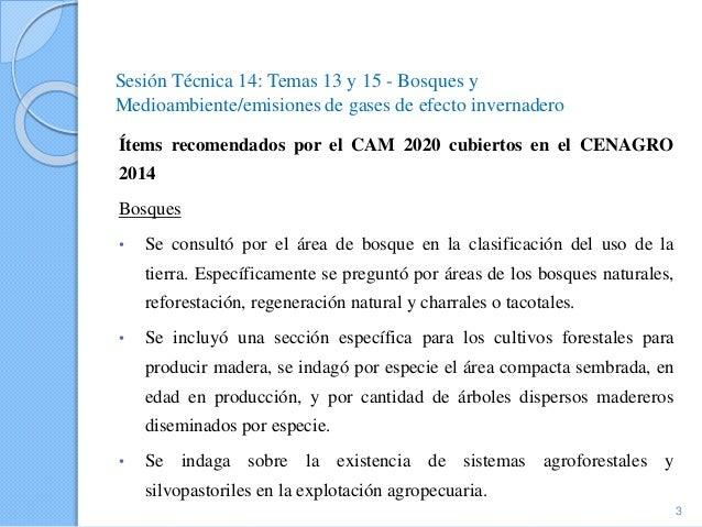 Costa Rica- Temas 13 y 15: Bosques y Medio ambiente/emisiones de gases de efecto invernadero, VI Censo Nacional Agropecuario 2014 Slide 3