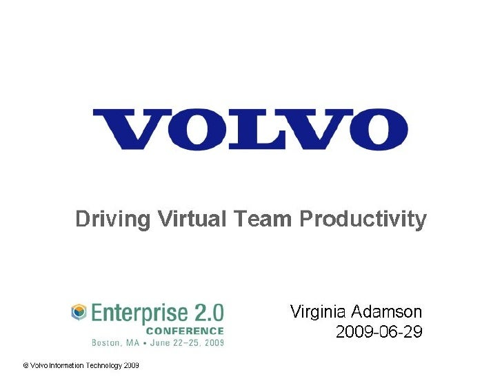 Driving Virtual Team Productivity