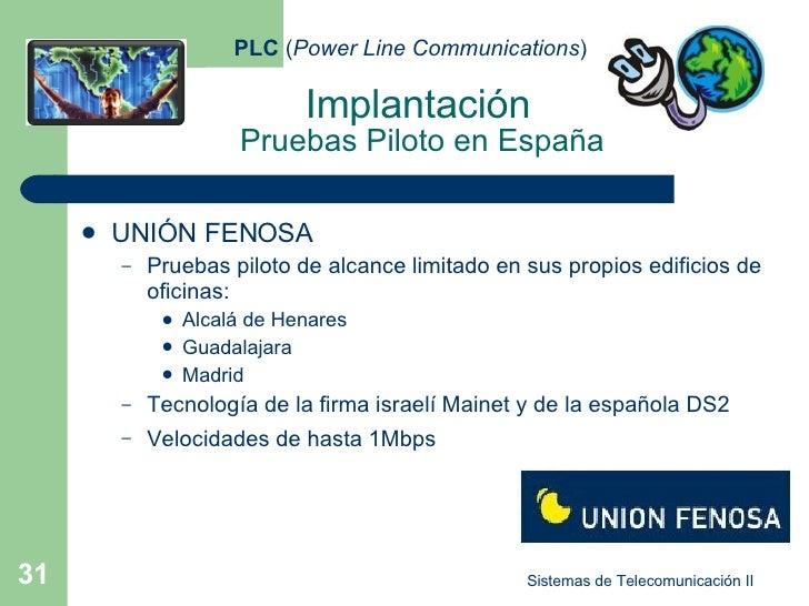 Plc powerline communication for Oficina union fenosa
