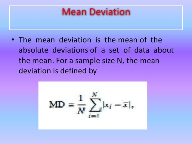 Lovely 9. Mean Deviation ...