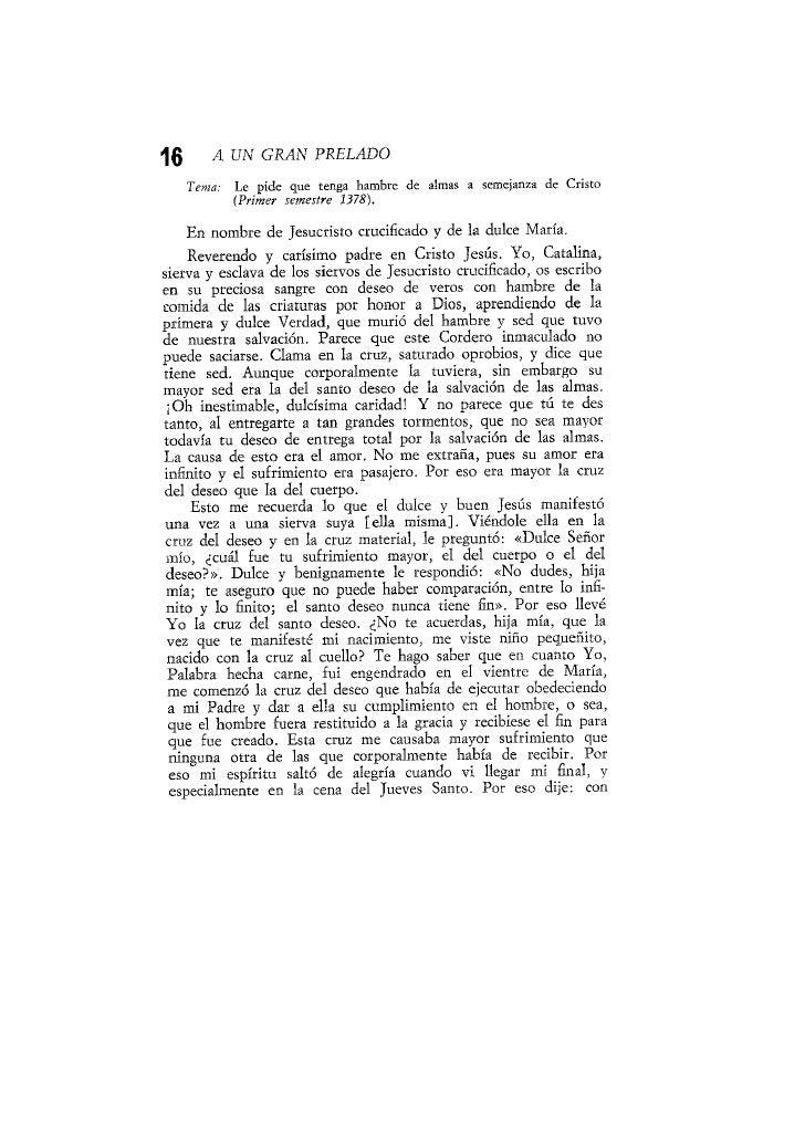 A UN GRAN PRELADO (Carta 16ª)