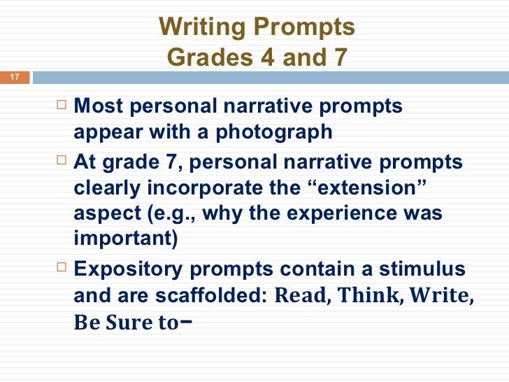 7th grade narrative writing assessment