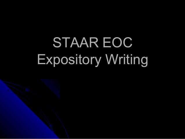STAAR EOC Expository Writing