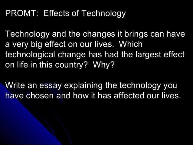 effect technology essay