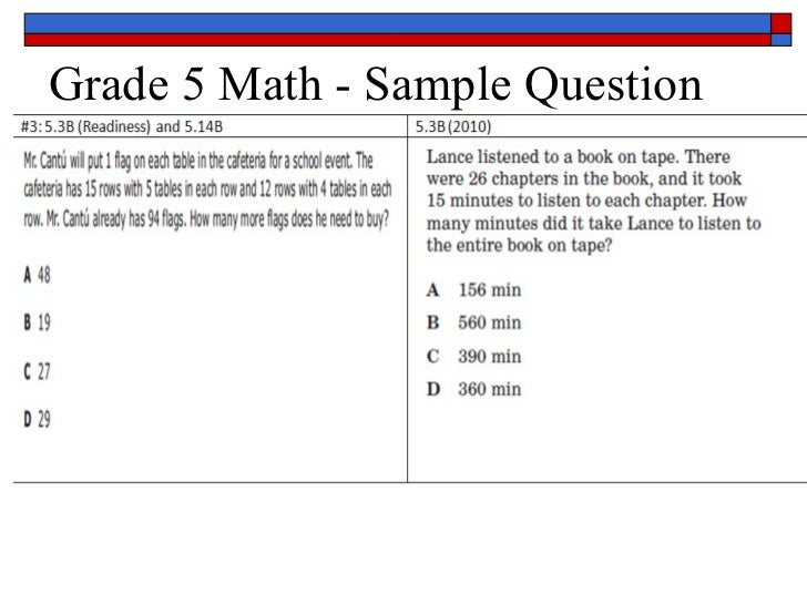 5th Grade Staar Math Questions Bing Images