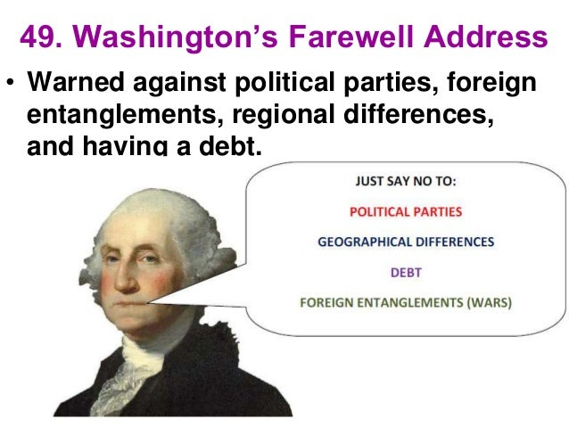 Vice President Pence's unwillingness to be alone with a ...  |George Washington Warning Against Parties