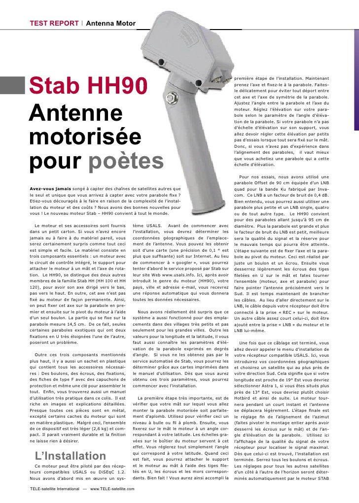 TEST REPORT                 Antenna Motor     Stab HH90                                                                   ...