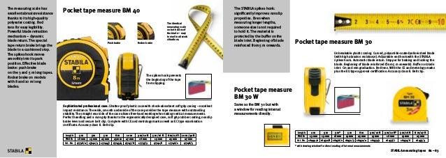 Stabila 17214 Measuring Tape 50 G 10 m Fibreglass