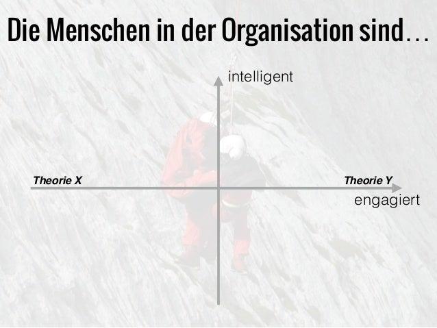 Die Menschen in der Organisation sind… intelligent engagiert Theorie YTheorie X