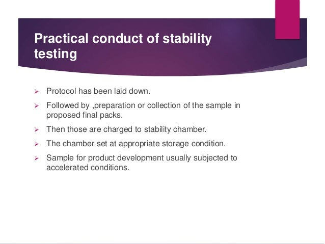 Stability Testing During Product Development Slide 2