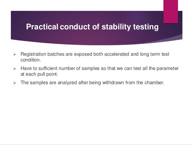Stability Testing During Product Development Slide 3