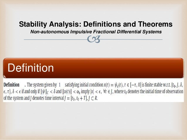 Impetuous Definition Stability analy...