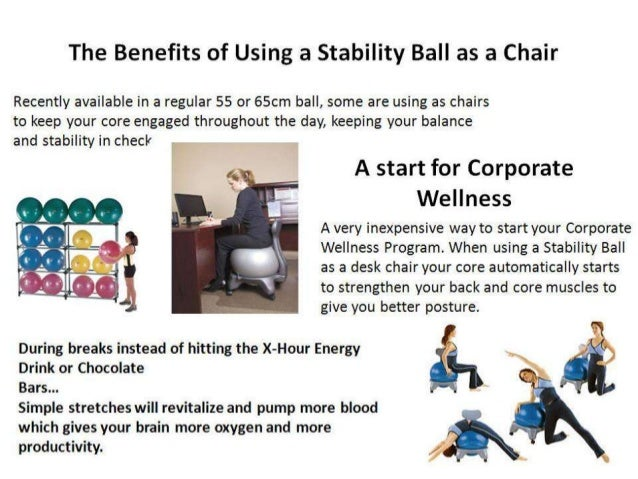 Stability Ball to Replace Your Desk Chair