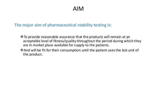 Expiration dating and stability testing for human drug products