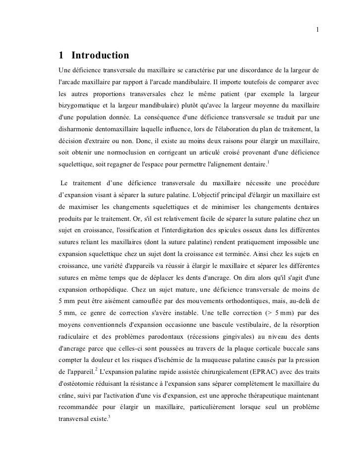 11 IntroductionUne déficience transversale du maxillaire se caractérise par une discordance de la largeur delarcade maxill...