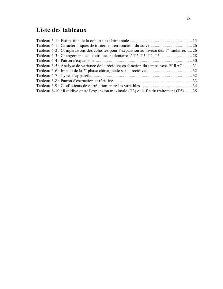 ixListe des tableauxTableau 5-1 : Estimation de la cohorte expérimentale ....................................................