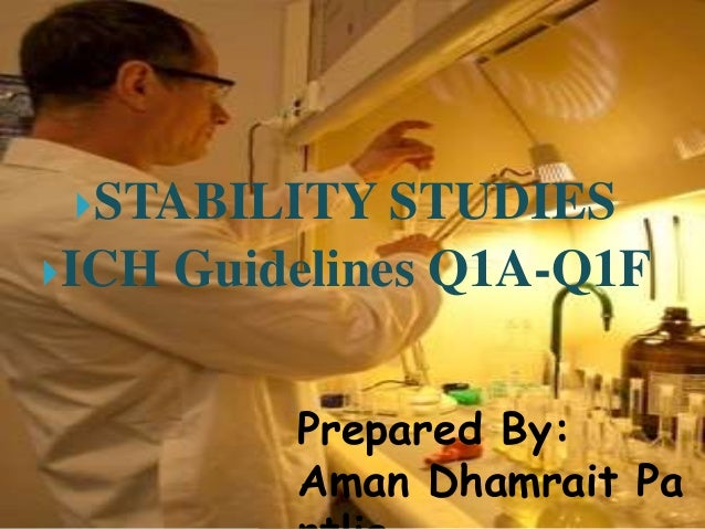STABILITY STUDIES ICH Guidelines Q1A-Q1F Prepared By: Aman Dhamrait Pa