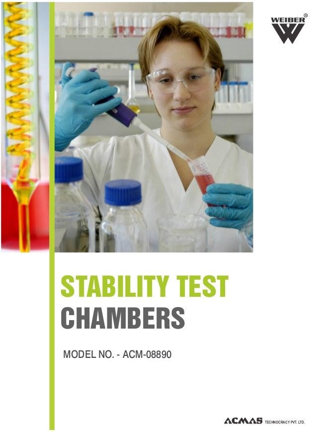 MODEL NO. - ACM-08890 STABILITY TEST CHAMBERS TECHNOCRACY PVT. LTD. R