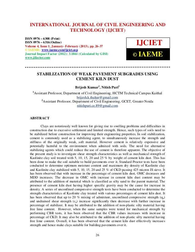 International Journal of Civil Engineering and Technology (IJCIET), ISSN 0976 – 6308 (Print),   INTERNATIONAL JOURNAL OF C...
