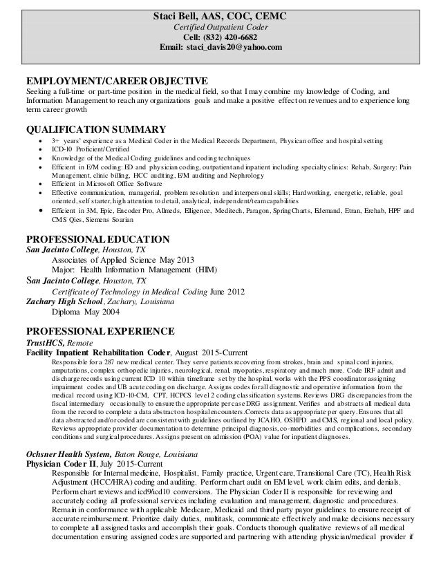 certified coder resume gse bookbinder co