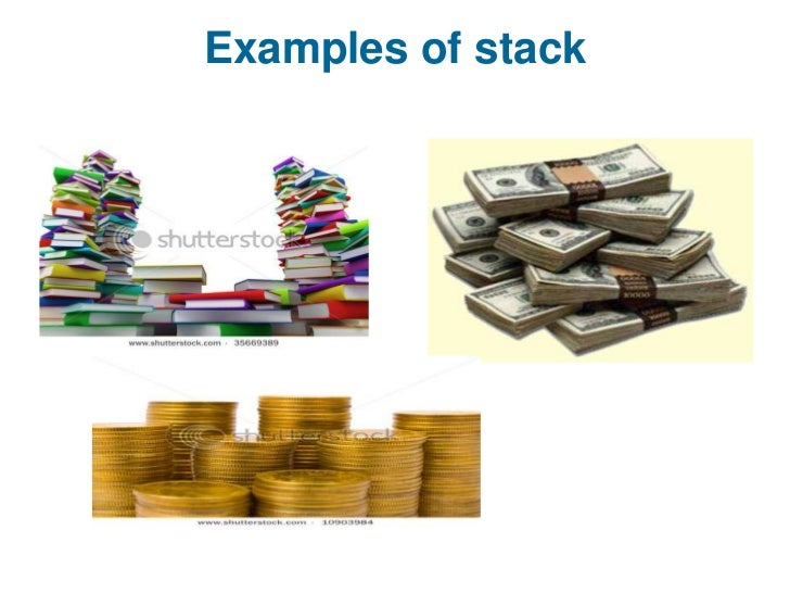 Stack data structure.