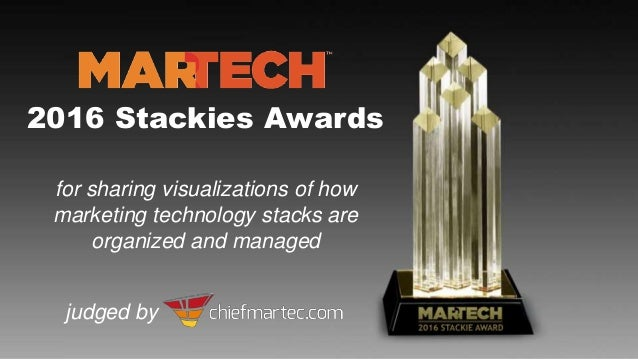 2016 Stackies Awards for sharing visualizations of how marketing technology stacks are organized and managed judged by