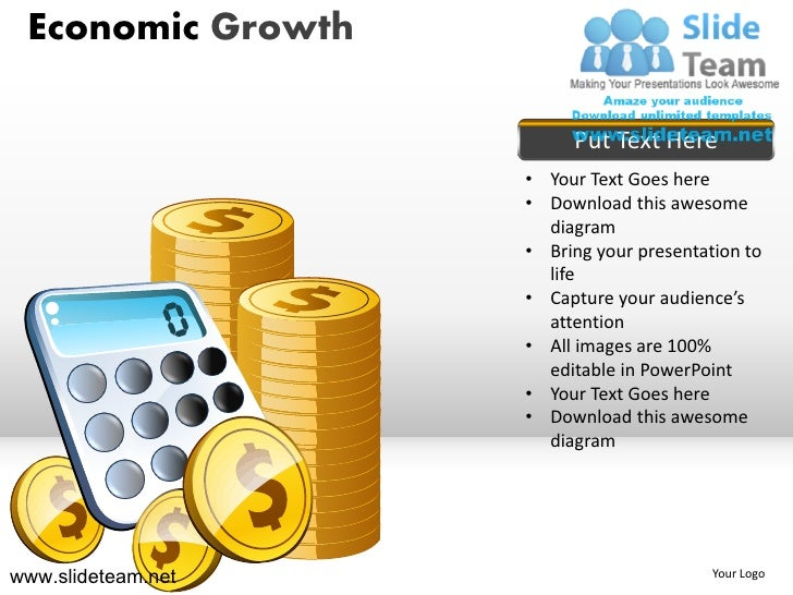 Stack Of Coins Calculator Economic Growth Powerpoint Ppt Templates